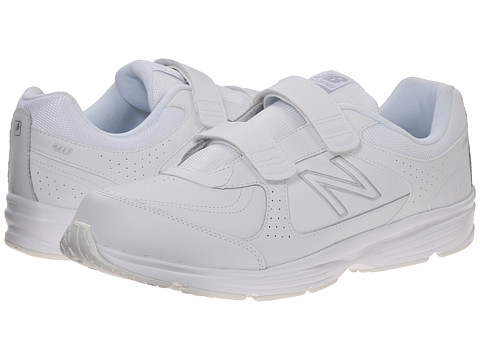 New Balance - MW411 - Hook-and-Loop (White 2) Men's Walking Shoes