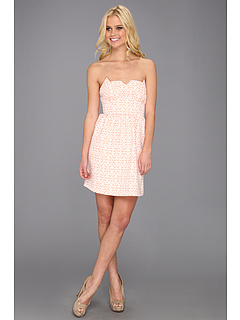 SALE! $29.75 - Save $89 on kensie Eyelet Dress (Guava) Apparel - 75.00% OFF $119.00