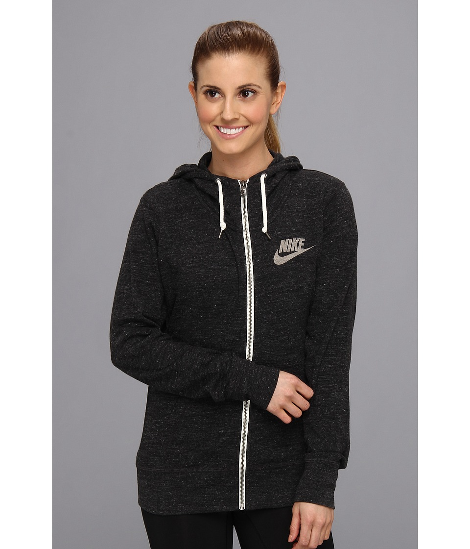 Nike - Gym Vintage Full-Zip Hoodie (Black/Sail) Women's Sweatshirt