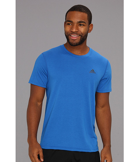 adidas - Ultimate Short Sleeve Tee (Blue Beauty/Dark Shale) Men's Short Sleeve Pullover