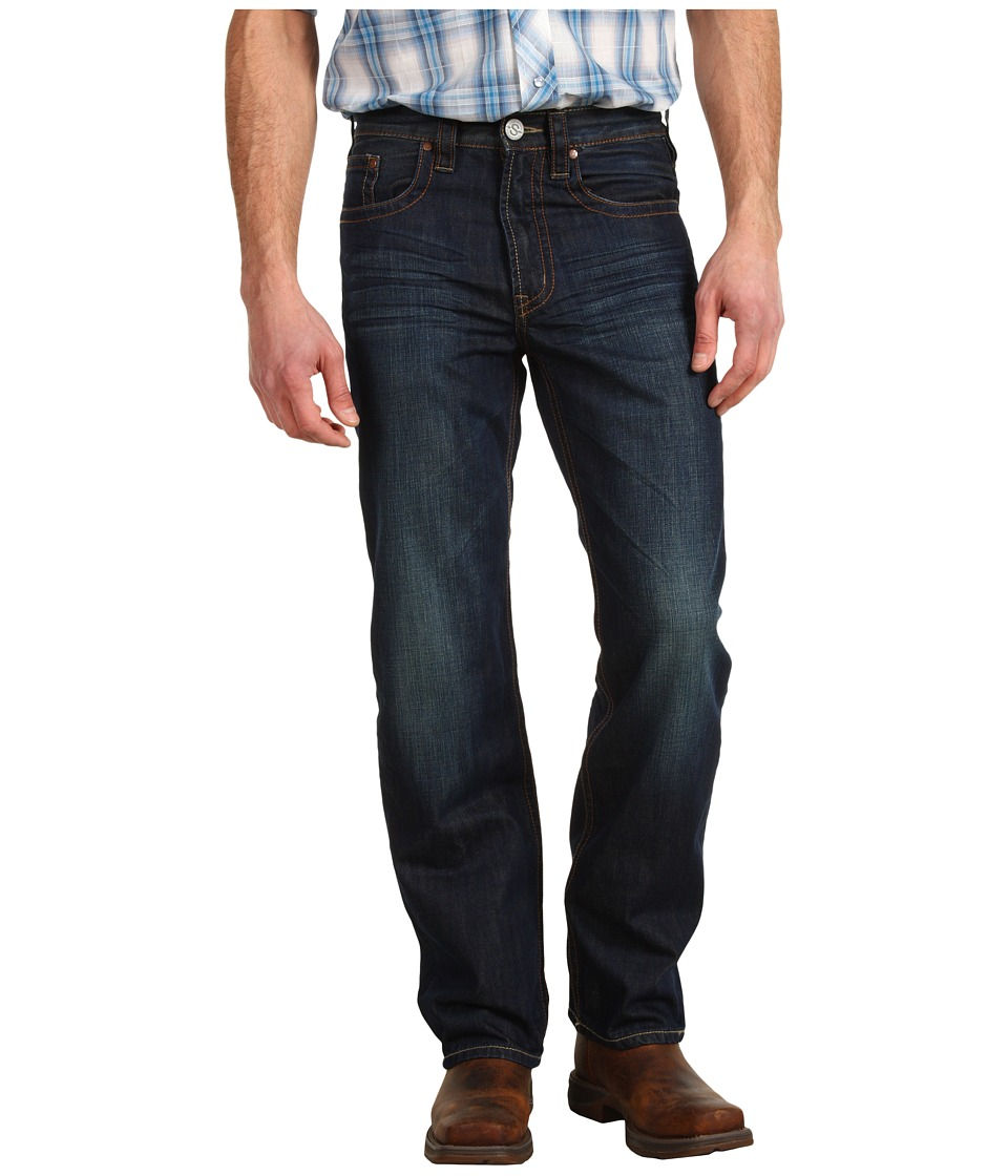 Stetson - Stetson Modern Fit Dark Navy with Contrast Back Pocket (Blue) Men's Clothing