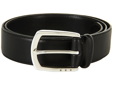 John Varvatos - 35mm Harness w/ Stars on Hand Stained Leather (Black) Men's Belts