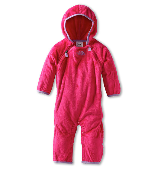 The North Face Kids - Buttery Fleece Bunting (Infant) (Passion Pink) Girl's Jumpsuit & Rompers One Piece