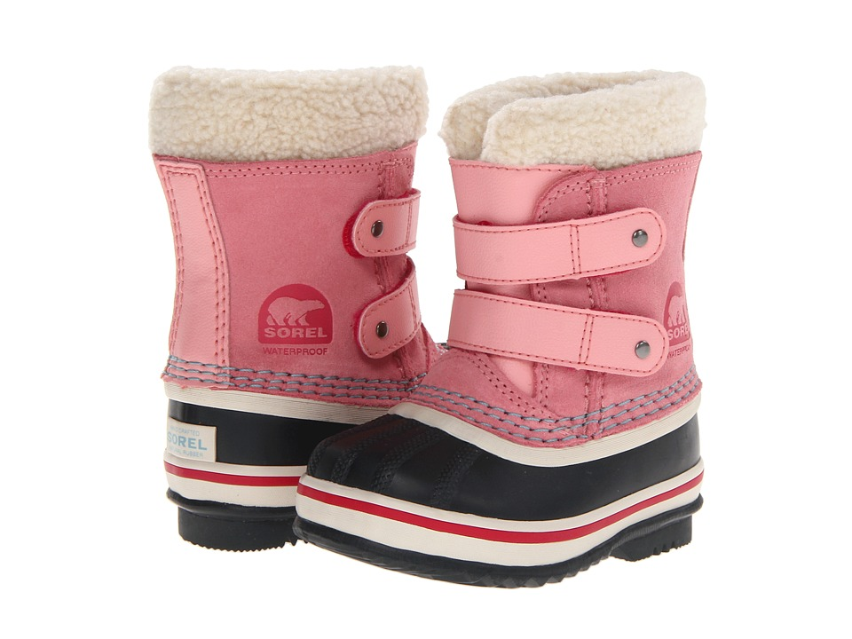 SOREL Kids - 1964 Pac Strap (Infant/Toddler) (Coral Pink) Girls Shoes