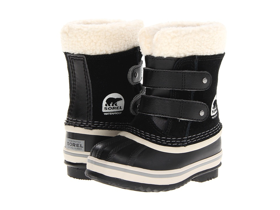 SOREL Kids - 1964 Pac Strap (Infant/Toddler) (Black) Girls Shoes