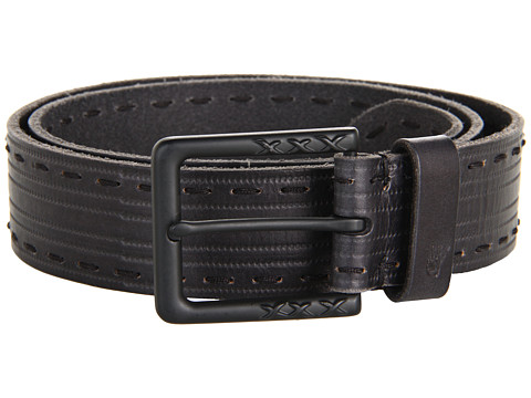 John Varvatos - 39mm Harness on a Stitch Detailed Strap (Black) Men