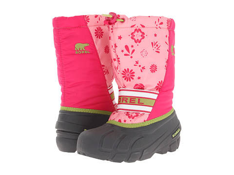 SOREL Kids - Cub Graphic 13 (Toddler/Little Kid/Big Kid) (Coral Pink/Green Tea) Girls Shoes