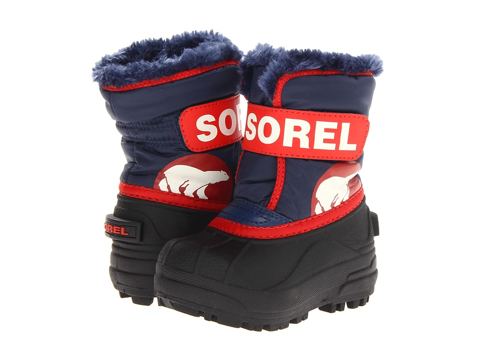 SOREL Kids - Snow Commander (Infant/Toddler) (Nocturnal/Sail Red) Boys Shoes