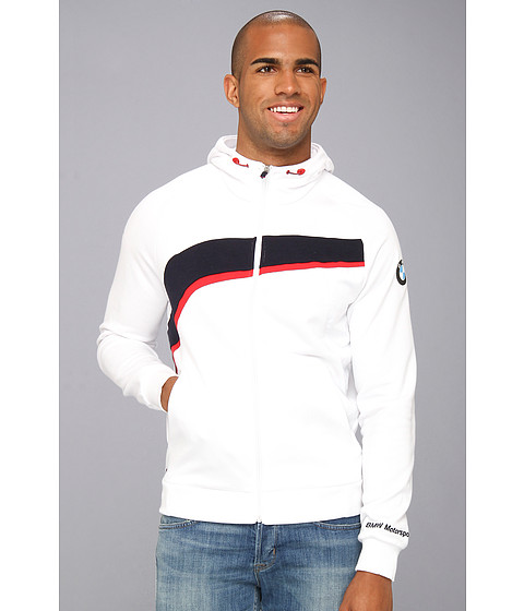 PUMA - BMW Hooded Sweat Jacket (White) Men's Coat