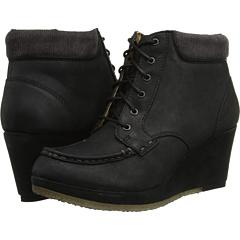 Clarks Vogue Iris (Black Leather) Footwear