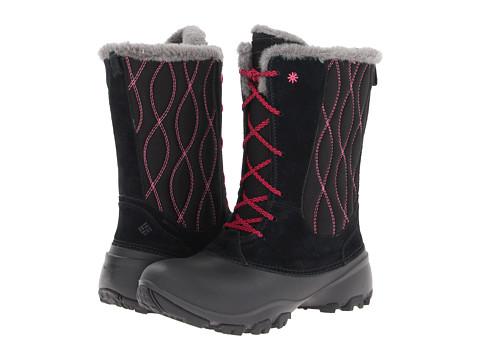 Columbia Kids - Snow Canyon Omni-Heat (Toddler/Little Kid/Big Kid) (Black/Bright Rose) Girls Shoes