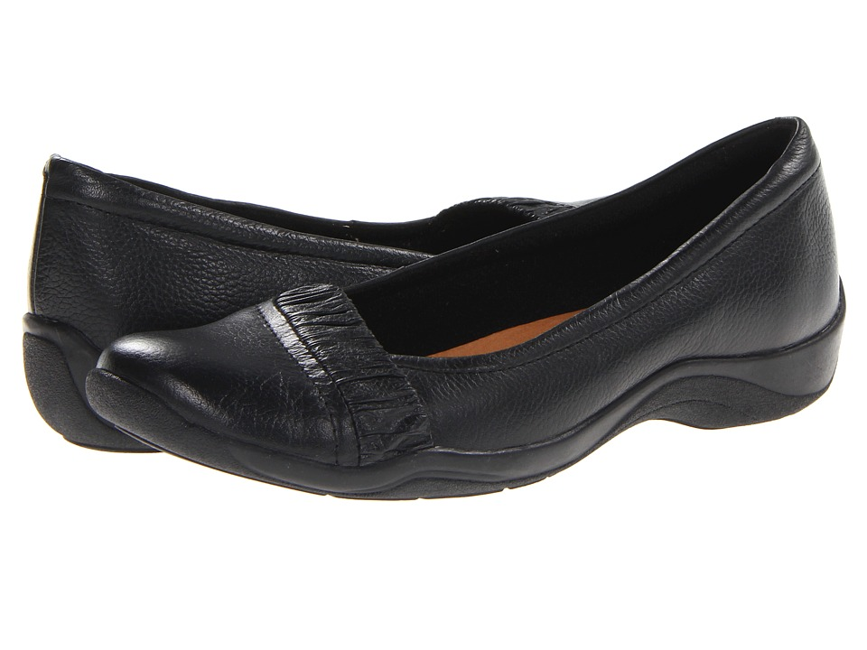 Clarks - Kessa Myrtle (Black Leather) Women's Shoes