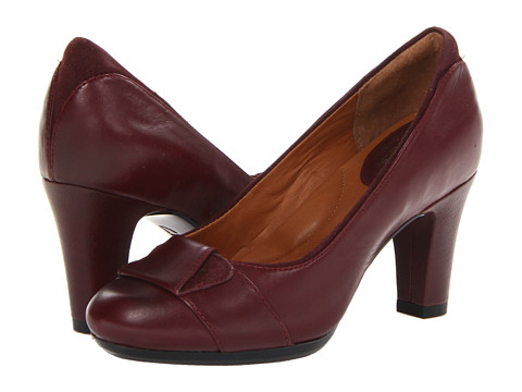 Clarks - Society Disc (Burgundy Leather) High Heels