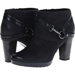 Clarks Lida Piper (Black Nubuck) Footwear
