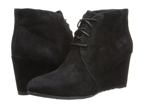 Clarks - Rosepoint Dew (Black Suede) Women's Wedge Shoes