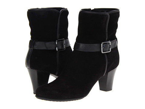 Clarks - Study Grade (Black Suede) Women's Zip Boots