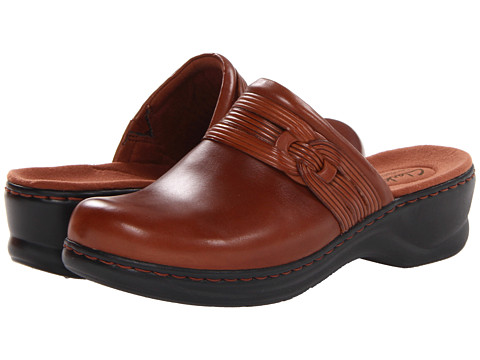 Clarks - Lexi Redwood (Tan Leather) Women's Clog/Mule Shoes
