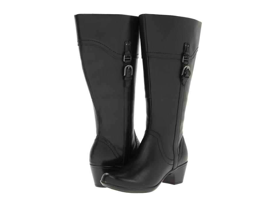Clarks Ingalls Vicky2 Wide Shaft (Black Leather) Women