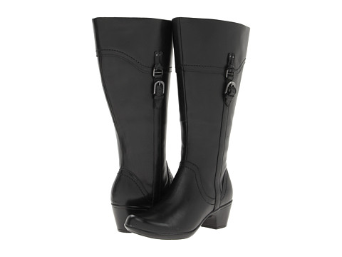 Clarks - Ingalls Vicky2 - Wide Shaft (Black Leather) Women's Boots