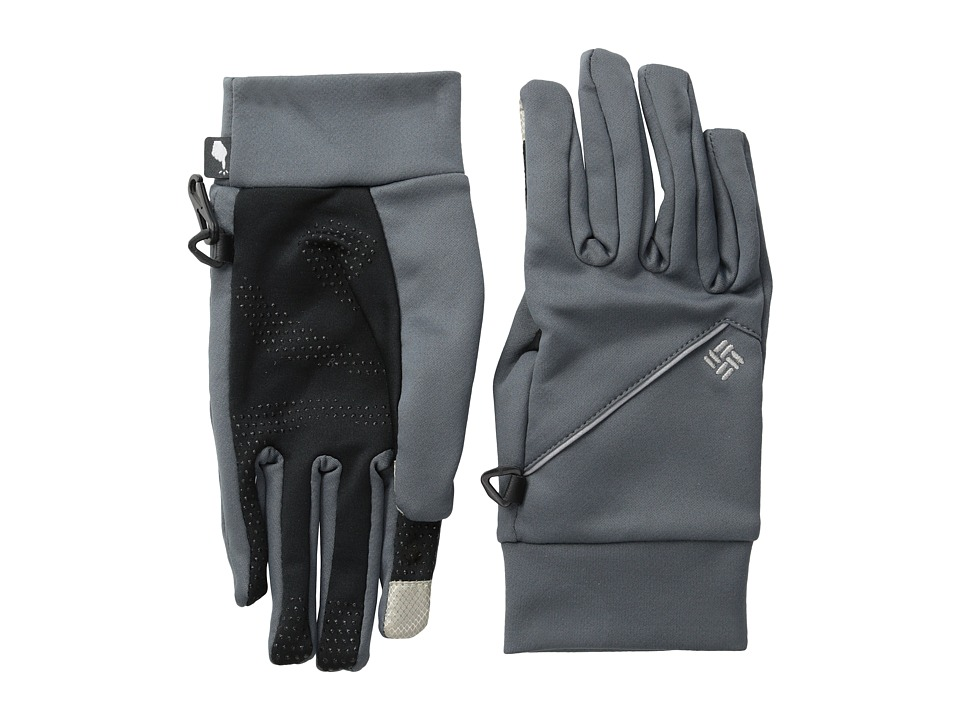 Columbia - Trail Summit Running Glove (Graphite 2) Extreme Cold Weather Gloves
