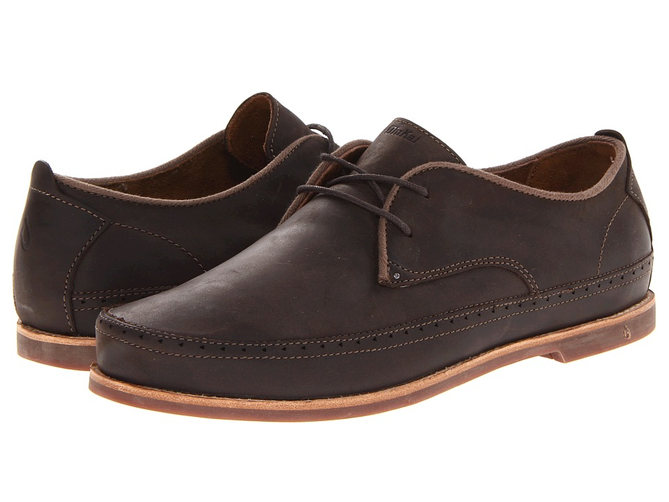 OluKai - Honolulu Lace (Dark Wood/Mustang) Men's Shoes