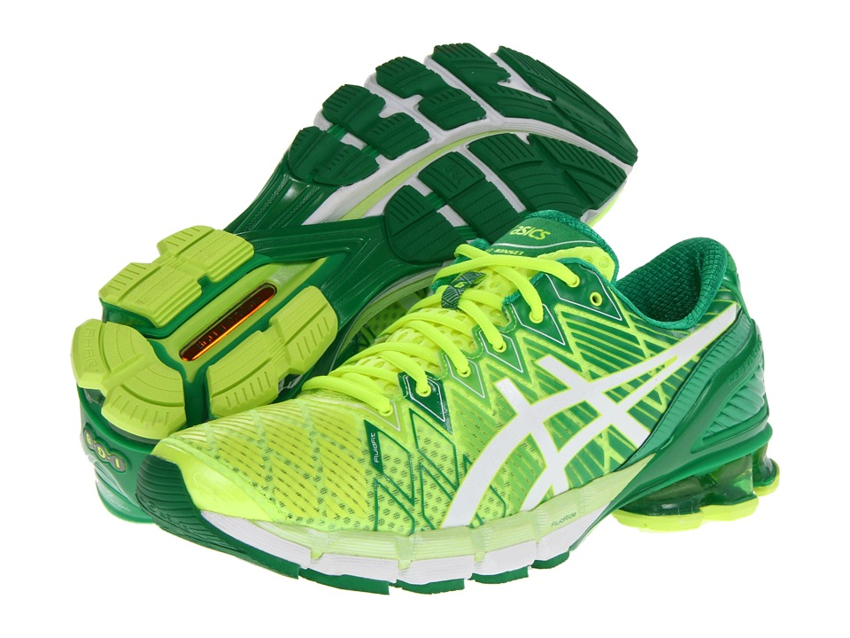 ASICS - Gel-Kinsei 5 (Flash Yellow/White/Green) Men's Running Shoes