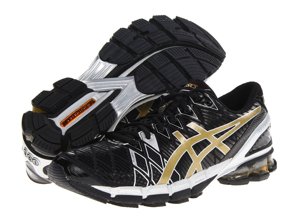 ASICS - Gel-Kinsei 5 (Black/Gold/Silver) Men's Running Shoes