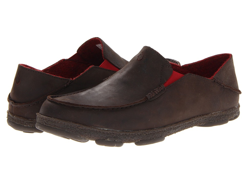OluKai - Moloa Kohana Fall '13 (Dark Wood/Dark Wood) Men's Slip on Shoes