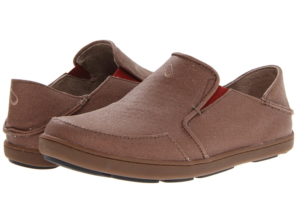 OluKai - Nohea Canvas (Mustang/Picante) Men's Slip on Shoes