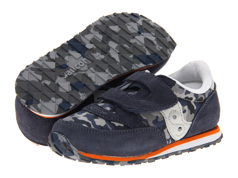 Saucony Kids - Baby Jazz HL (Infant/Toddler) (Navy/Camo) Boys Shoes
