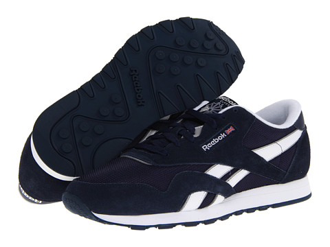 Reebok - Classic Nylon R13 (Athletic Navy/White/Pure Silver/BLSTC) Men's Running Shoes