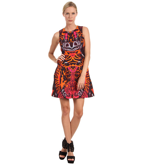 McQ - Kaleidoscope Party Dress (Terracotta) Women's Dress