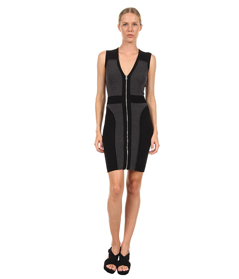 McQ - Zip Knit Group - Dress (Black/Dark Grey) Women's Dress