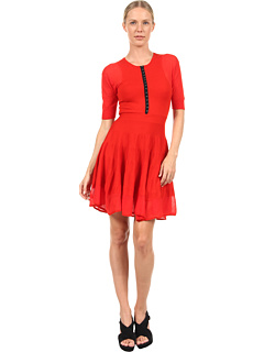 SALE! $309.99 - Save $250 on McQ Flirty Dress (Crimson) Apparel - 44.64% OFF $560.00