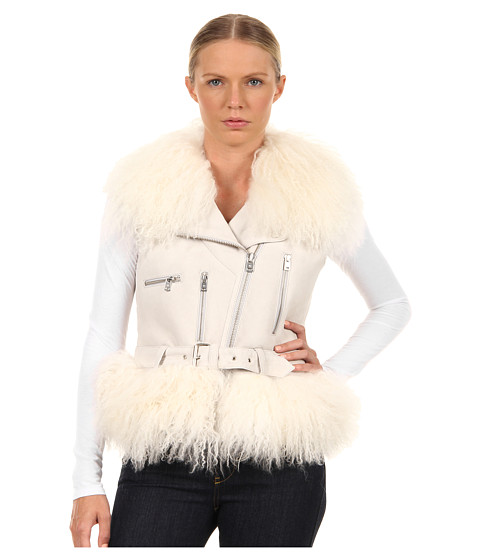 McQ - Sheepskin Gilet (Putty) Women