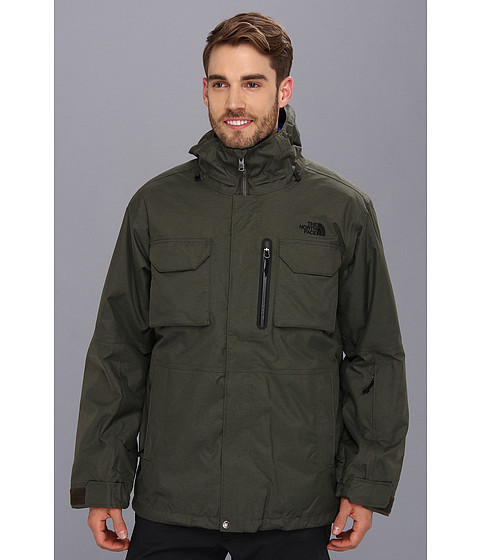 The North Face Gilmore Triclimate Jacket - Regular (New Taupe Green/Nautical Blue/Nautical Blue) Men's Coat