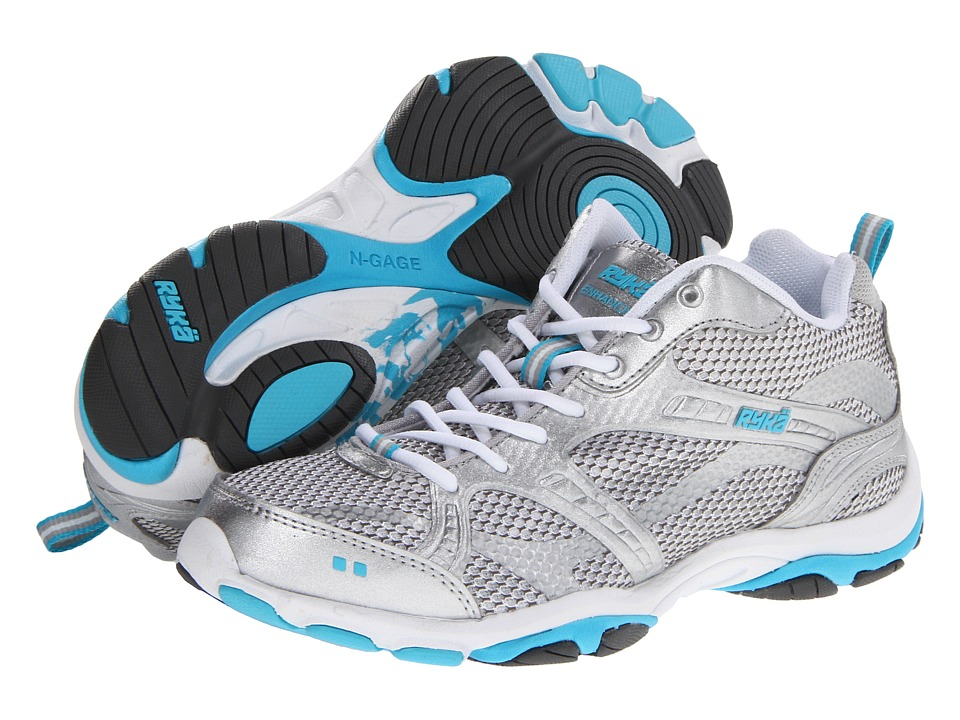 Ryka - Enhance 2 (White/Chrome Silver/Detox Blue/Steel Grey) Women