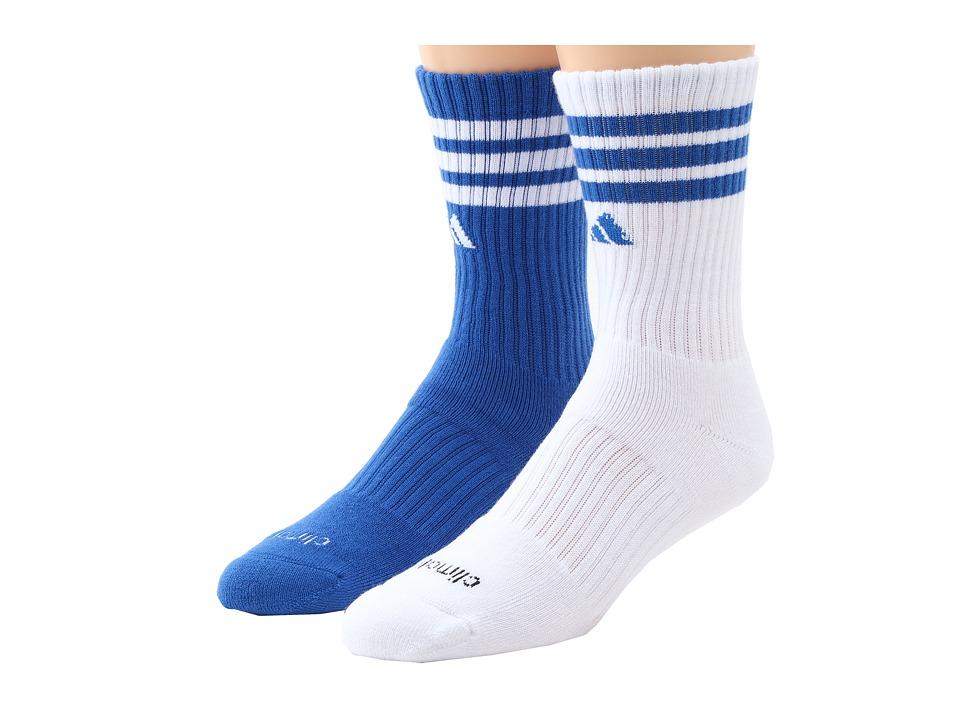 adidas Kids - Team Crew 2-PacK (Little Kid/Big Kid/Adult) (High Res Blue/White/White/High Res Blue) Kids Shoes
