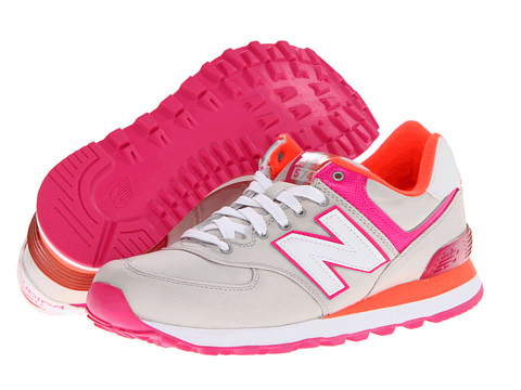 New Balance Classics - WL574 - Alpine (Grey/Pink/Orange) Women's Classic Shoes