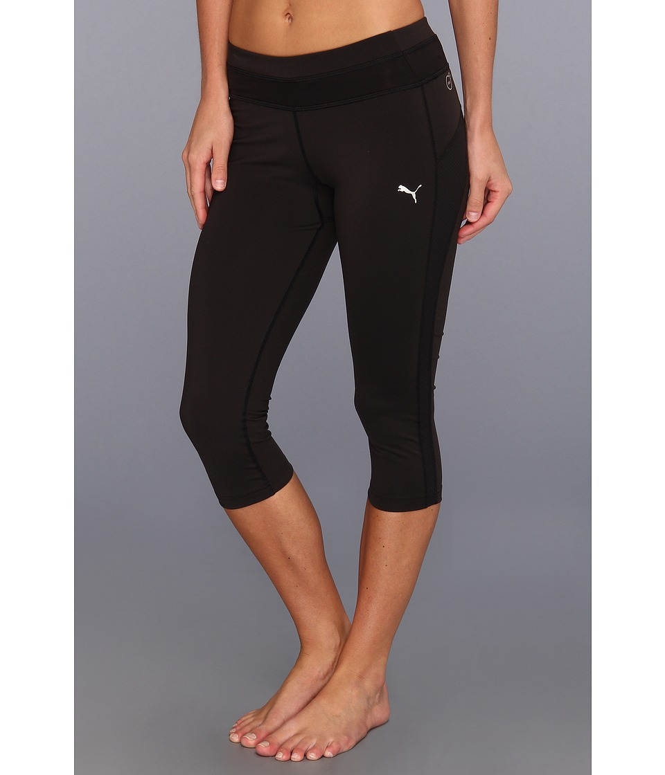 PUMA - Tech Performance 3/4 Tight (Black) Women's Capri