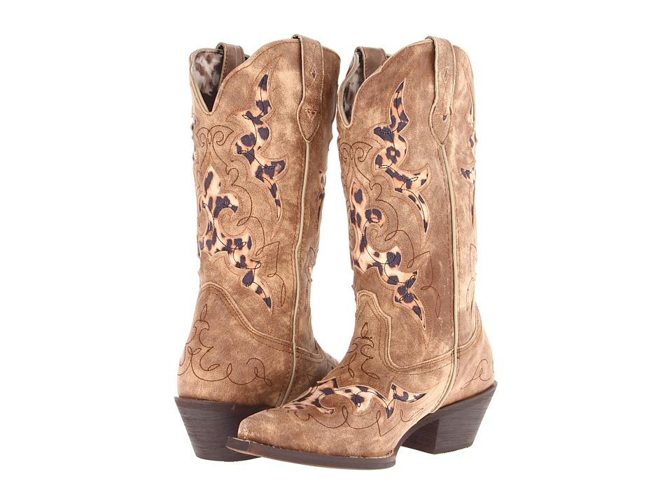 Laredo Aphfrika (Tan w/ Leopard Underlays) Cowboy Boots