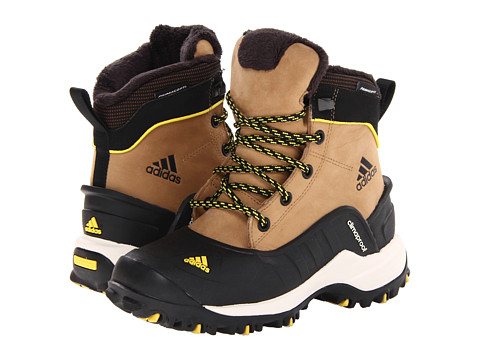 adidas Outdoor Kids - Holtanna CP (Little Kid/Big Kid) (Craft Canvas/Black/Vivid Yellow) Kids Shoes