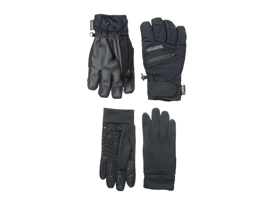 Burton - Mens GORE-TEX Under Glove (True Black) Snowboard Gloves