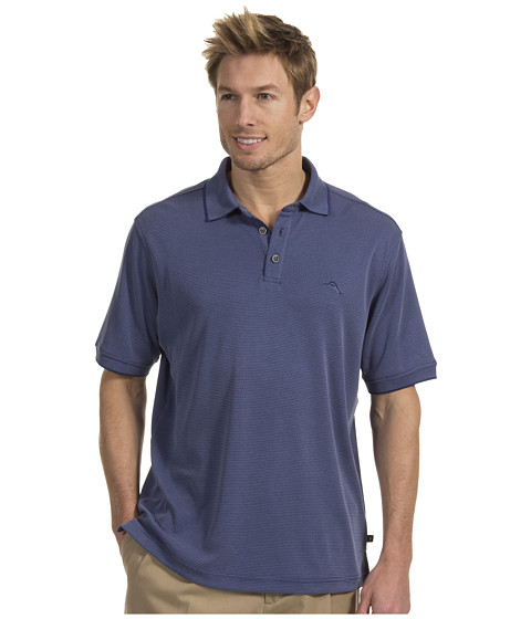 Tommy Bahama - All Square Polo (Key West Blue) Men's Short Sleeve Pullover