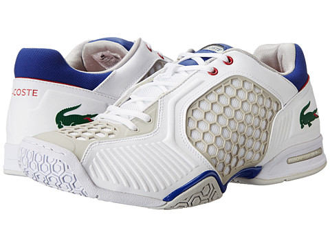 Lacoste - Repel DE (White/Blue) Men's Shoes