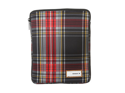 Burton Tablet Sleeve (Black Plaid) Computer Bags