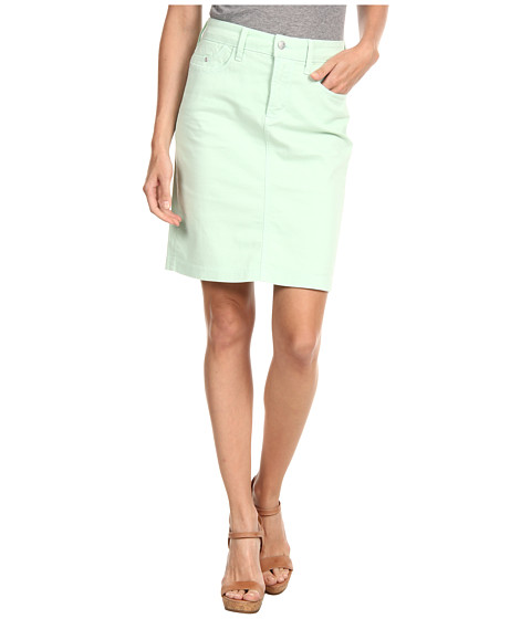NYDJ - Rebecca Skirt Fine Line Twill (Spearmint) Women's Skirt