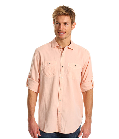 Tommy Bahama - Island Modern Fit Sand City Oxford L/S Shirt (Morning Bliss) Men