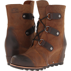 SOREL Joan Of Arctic Wedge Mid (Dark Brown Black) Footwear