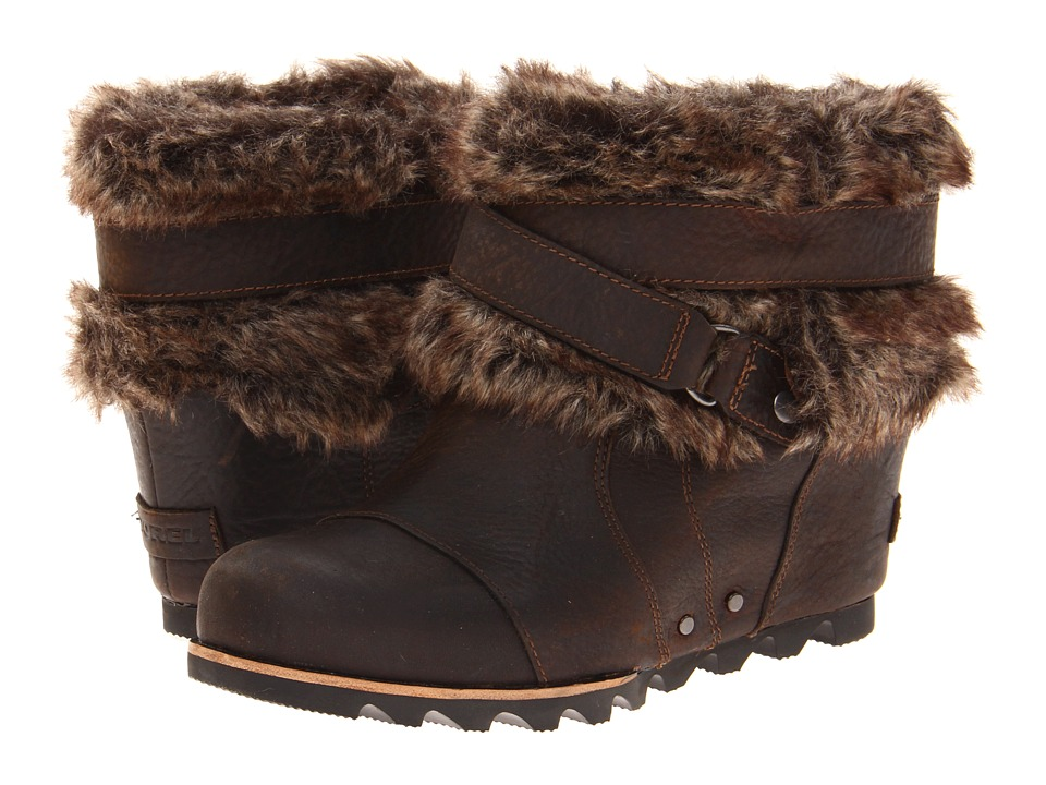SOREL - Joan Of Arctic Wedge Ankle (Dark Brown) Women's Waterproof Boots